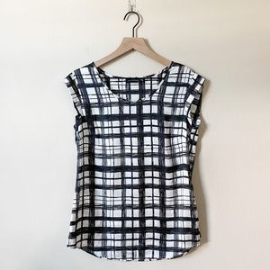 TheLimited | doodle plaid top